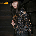 lady genuine sheep leather short jacket 100% real sheep leather coat