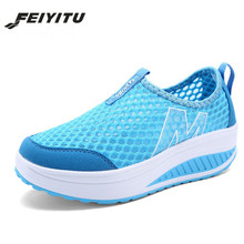 35-41 Height Increasing Summer Shoes Women's Casual Shoes Sport Fashion Walking Shoes for Women Swing Wedges Shoes Breathable  цена 2017