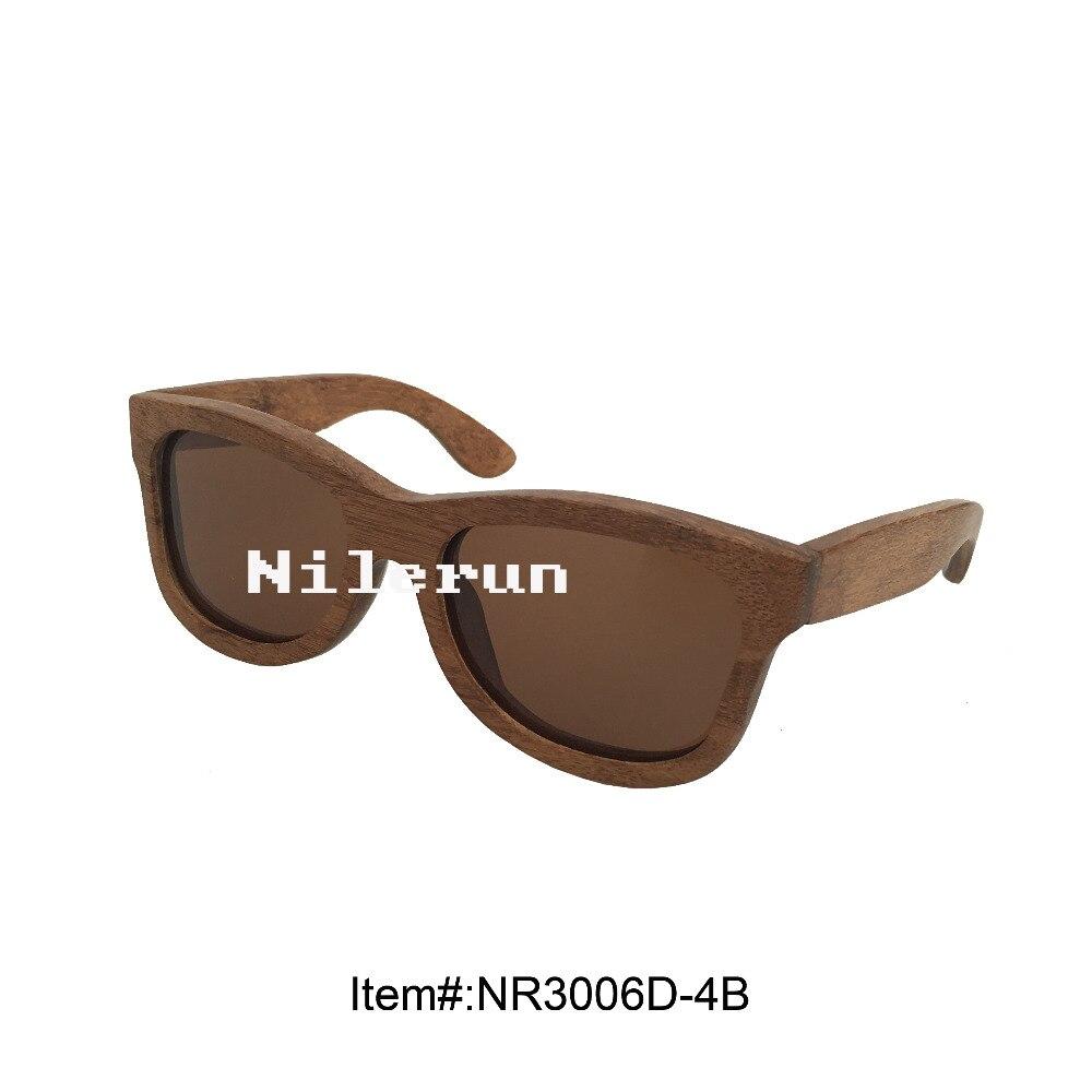 unique carbonized brown bamboo sunglasses