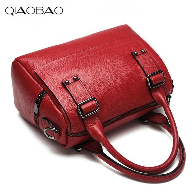 Qiaobao High Grade First Class 100 Cowhide Leather Bag Las Handbag Shoulder Messenger