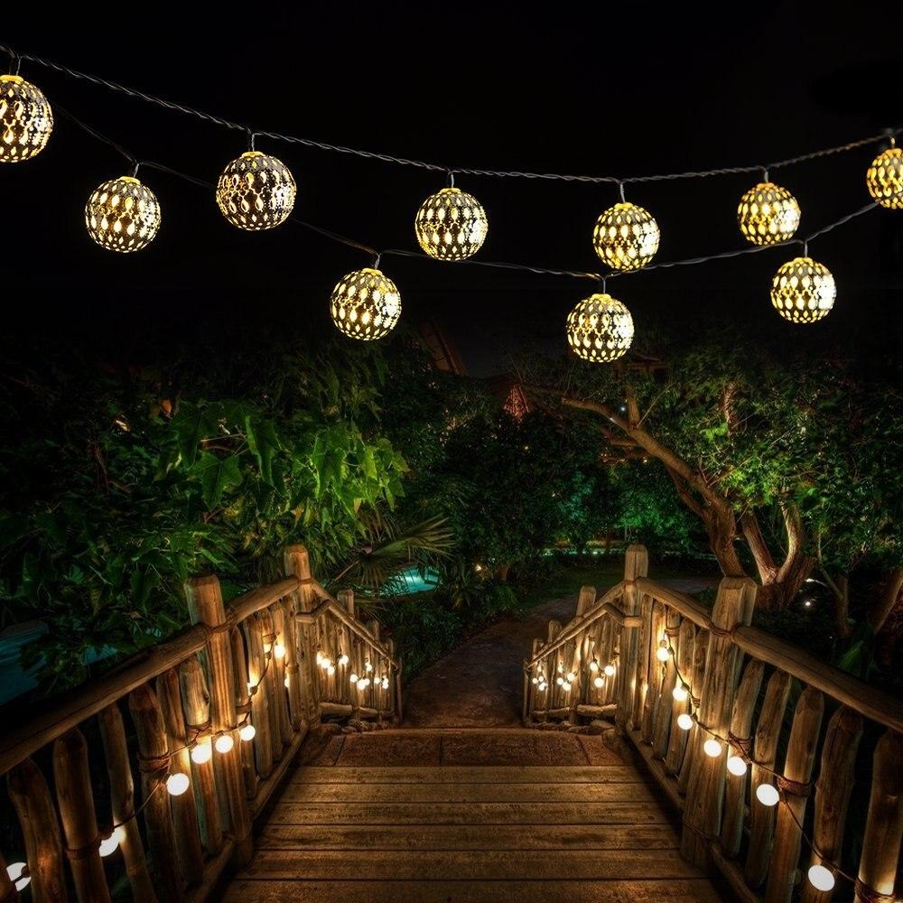 Патио Свадьбы, 20 LED Солнечный Рождество свет водонепроницаемый портативный Рождество свет Крытый и открытый Рождество бордовый
