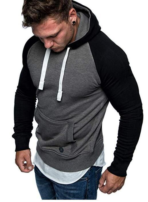 f44d8a160ec New Men s casual hoodies Men s Sweatshirts Fashion Leisure Pullover Hooded  Sweatshirts bodysuit with large pockets menhoodies