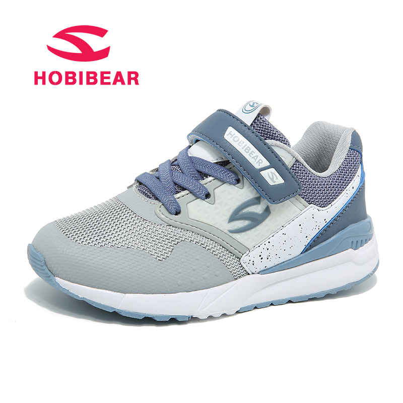 HOBIBEAR Trainers Kids Sport Shoes For Girls Sneaker Boys Running Shoe Breathable Patchwork Mesh Leather Children Casual Shoes forudesigns kids sport shoes boys girls for children walking cycling running nebula pringting lace up sneaker shoes outdoor