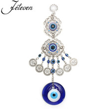Blue Evil Eye Amulet Hanging Pendants Lucky Trendy Turkish Glass Glaze  Charms Car Office Home Decoration
