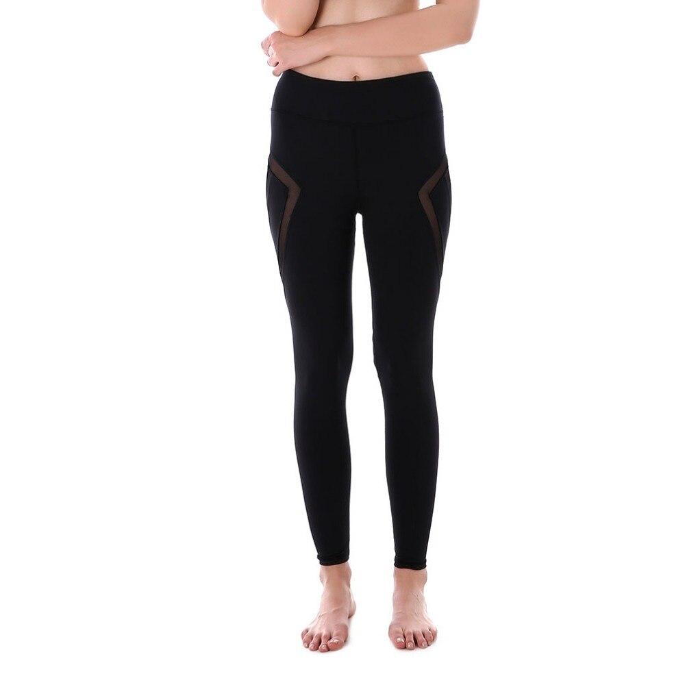 LOVE SPARK Grenadine Spliced Sexy Elastic Black Yoga Pants