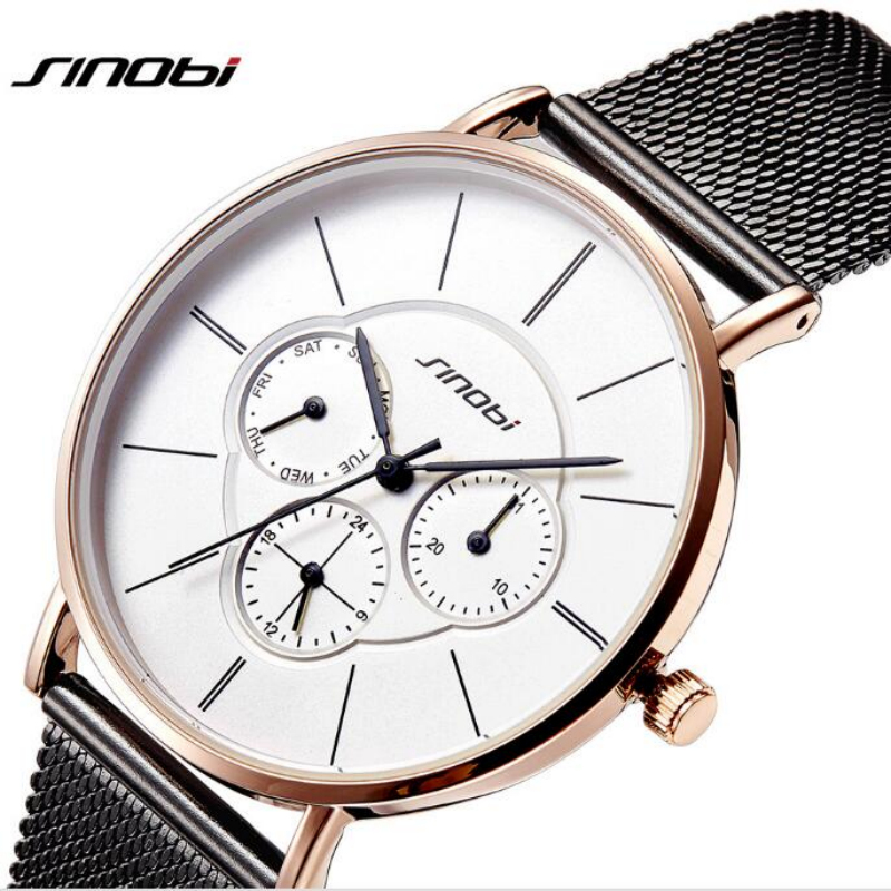 SINOBI Top Brand Luxury Rose Gold Watch Women Watches Week Auto Date Ladies Watch Womens Watches Clock bayan saat montre femmeSINOBI Top Brand Luxury Rose Gold Watch Women Watches Week Auto Date Ladies Watch Womens Watches Clock bayan saat montre femme