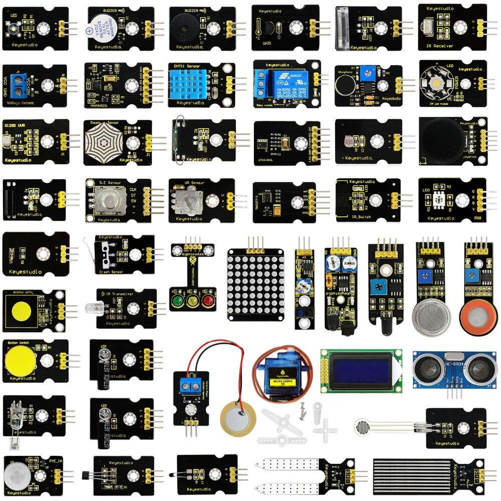 Новый! Keyestudio 48 В 1 сенсор Starter Kit с подарочной коробке для Arduino DIY проектов (шт. 48 шт. сенсор s)