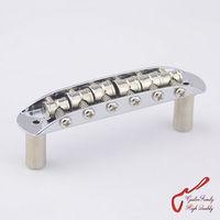 High Quality Brass Saddles Vintage Jazzmaster Jaguar Mustang Type Bridge For Fender Squier Chrome