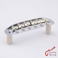High Quality Brass Saddles Vintage Jazzmaster Jaguar Mustang Type Bridge For Fender Squier Chrome