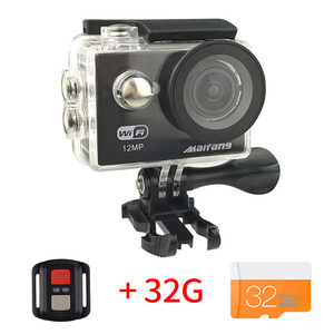 Ultra HD 4K 10FPS action Camera Wifi Camcorders 12MP go cam 4 K W9R deportiva 2 inch Waterproof Sport Camera pro 1080P 30fps cam(China)