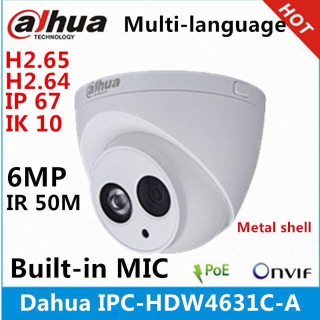 Dahua IPC HDW4631C A coque en métal 6MP intégré micro POE IR 50m IP67 IK10 caméra ip remplacer IPC HDW4431C A caméra de vidéosurveillance