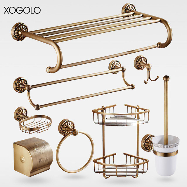 Aliexpresscom Buy Xogolo Brass Brushed Carving Wall Mounted - Where to buy bathroom hardware