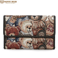 DANNY BEAR Wallets With Coin Purses For Women Designers Cute Pattern Long Clutch Purses Teenager Girls