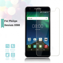 2.5D 0.26mm Ultra Thin Tempered Glass For Philips Xenium X588 Toughened Protector Film Protective Screen Case Cover Universal смартфон philips xenium x588 32gb черный 867000141167