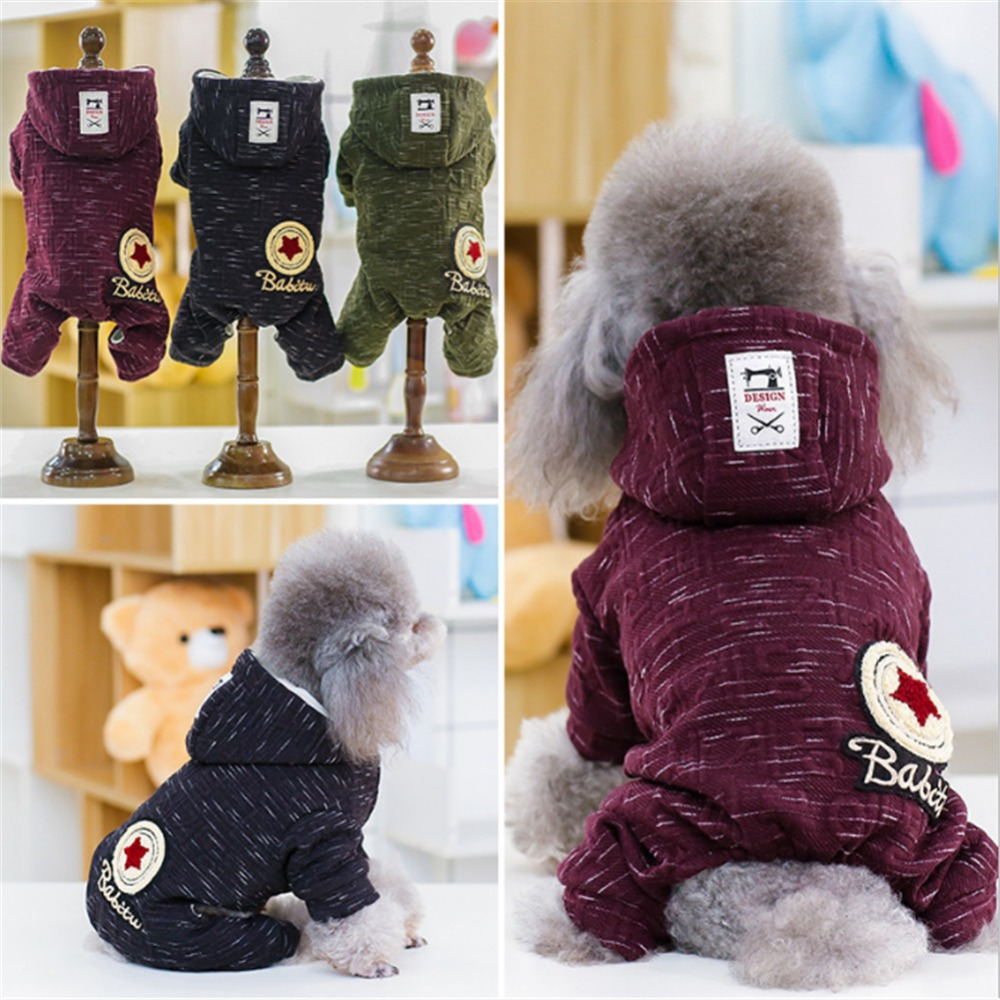 Winter Warm Dog Clothes For Small Dogs Clothing Dog Coat Jacket Puppy Clothes Pet Cat Hoodies Yorkie Chihuahua Clothes Apparel