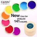 Canni laca gel 5 ml 141 colores puros uv gel manicura diy Nail Art Puntas de Gel Polaco Diseño 50618 Barniz Pintura de Uñas de Color Gel