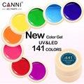 Canni verniz gel 5 ml 141 cores puras uv gel manicure diy Dicas Da Arte do prego Cor Das Unhas de Gel Polonês Design 50618 Verniz Pintura Gel
