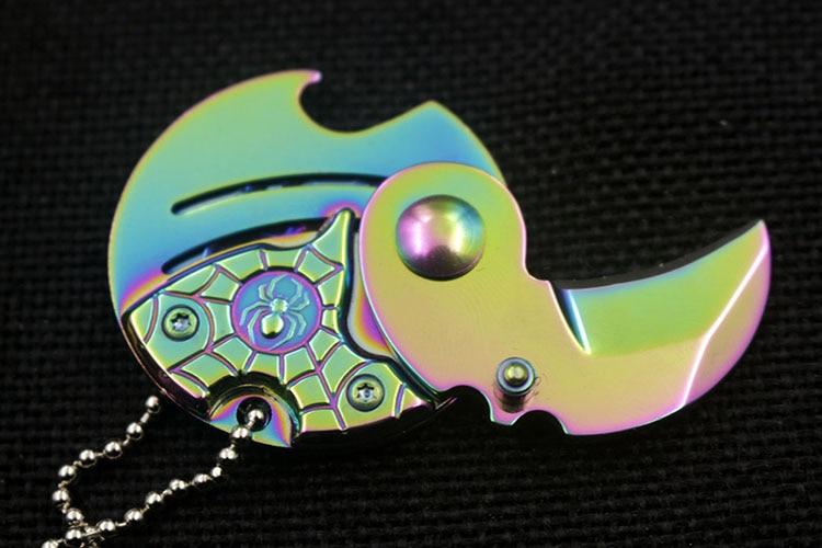 Érmék összecsukható kés rögzített penge Kulcstartó - Kézi szerszámok - Fénykép 5