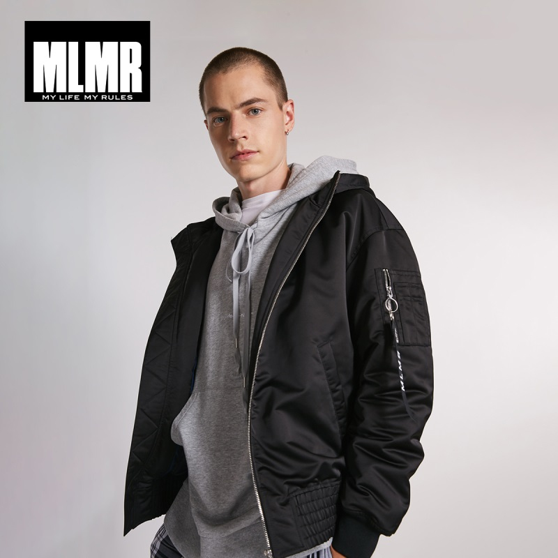 MLMR Men's Short Hooded Parka Jacket jackjones Fashion Menswear 218309516-in Parkas from Men's Clothing    1