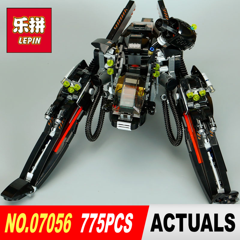 lepin 07056 Super Heroes Batman Movie Series scuttler Bat Spaceship model building kits blocks Bricks boys toys LegoINGlys 70908