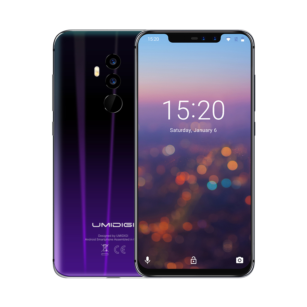 "UMIDIGI Z2 Smartphone 4050mAh 6.2"" Android 8.1 MTK6763 Octa Core 2.0GHz 6GB+64GB 16.0MP+8.0MP Dual Back Cameras 4G Mobile Phone"