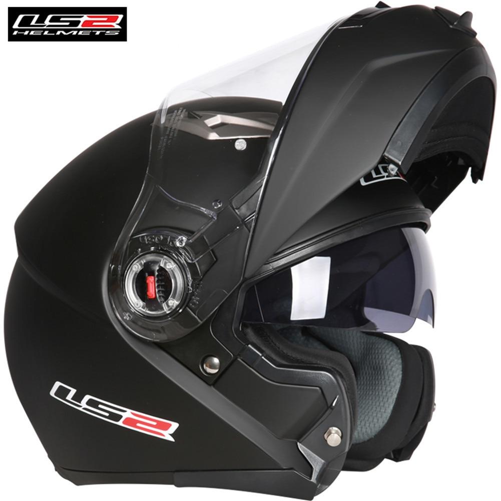 LS2 FF370 Flip up Motorcycle Helmet Modular Cascos Moto Casques Dual Visors Capacete ls2 Helmets цена 2017