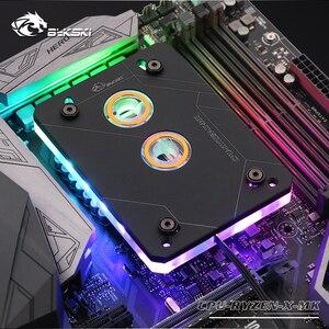 Image 4 - Водяной блок для процессора Bykski для AMD RYZEN3000 AM3 AM3 + AM4 1950X TR4 X399 X570 материнская плата/5 В 3PIN светильник/медный радиатор
