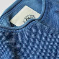 Прочтите описание! Мужская хлопковая Повседневная футболка Индиго, Азиатский размер
