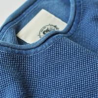 Read Description! Asian size mans high quality cotton casual indigo tee
