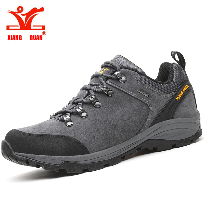 XIANGGUAN Hot Sell Men Hiking Shoes Women Sneakers Climbing Sport Shoes Athletic Breathable Travel Suede Calfskin