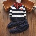 12 meses-6 anos a roupa do bebê set meninos roupas conjunto de roupas roupas de bebê menino crianças calças Jaqueta 2 peças