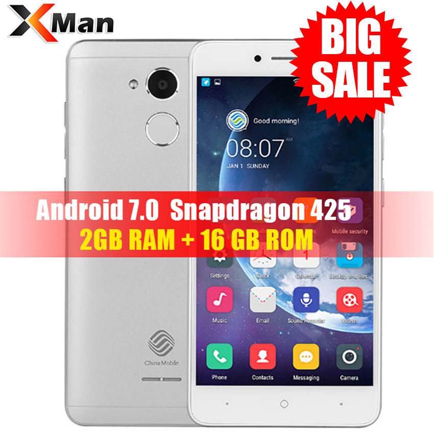 China Mobile A3S M653 4G LTE Smartphone 2 GB di RAM 16 GB 5.2 inch ROM Snapdragon 425 Quad Core chinamobile A3S Android 7.0 telefono