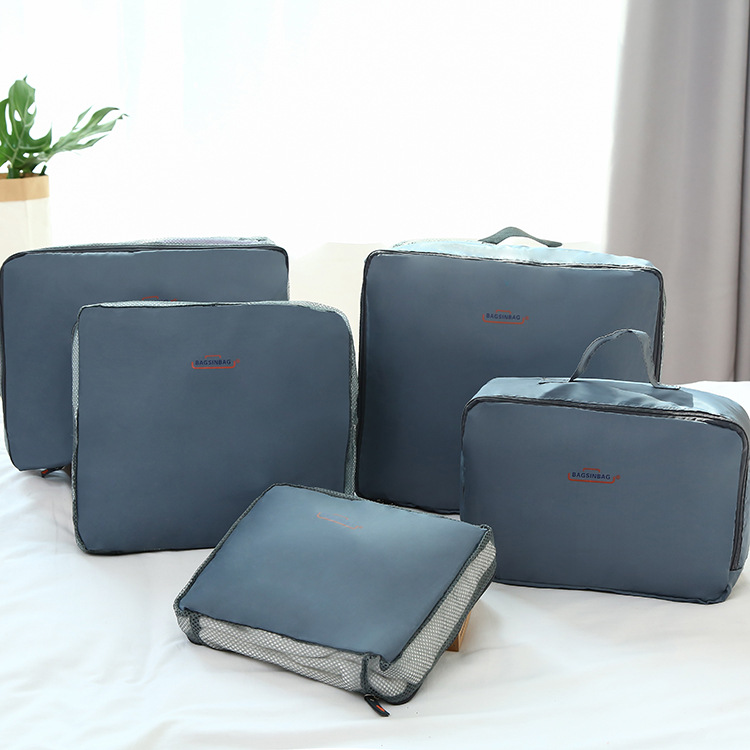 5PCS/Set Brand Unisex Traveling Bag In Bag Packing Cubes Luggage Clothes Storage Bag Organizer Beautiful Travel Bag