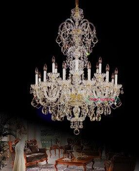 Hohe decke Mode gold kristall kronleuchter perlen Dekoration moderne led kronleuchter Große Elegante moderne kronleuchter luxus
