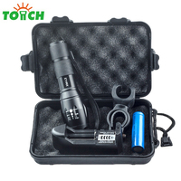 3800lm 5 Switch Mode Taclical Led Torch Cree Xm L2 Led Rechargable Hand Lantern Zoom Powerful