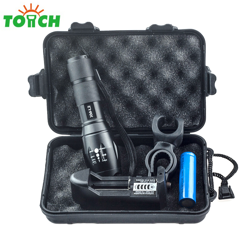 3800lm 5 Switch Mode Taclical Led Torch Cree xm-l2 Led Rechargable Hand Lantern Zoom Powerful Bike Flashlight with 18650 Charger 3800 lumens cree xm l t6 5 modes led tactical flashlight torch waterproof lamp torch hunting flash light lantern for camping z93