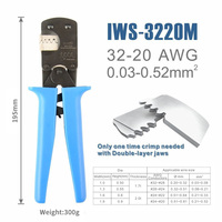 IWS 3220 Crimping tool for JST DuPont terminals mini Hand Crimping pliers for Narrow pitch Connector Pins 0.03 0.5mm2 AWG: 32 20
