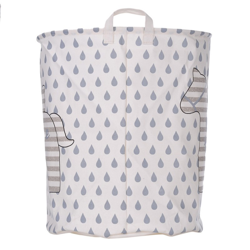 Cart Basket Linen Waterproof PE coating Laundry Clothes Rain Horse Pattern Container Organizer Barrel Folding Toy Storage Boxes
