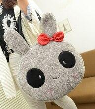 1PC 40cm cartoon shy rabbit bunny leisure plush shoulder bag shopping handbag stuffed toy gift