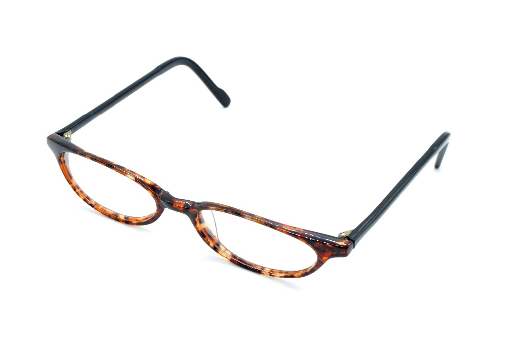 NEW TOP PLATE ULTRA NARROW LEOPARD LADIES GLASSES FRAME CUSTOM MADE ...