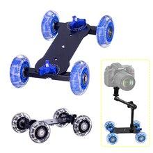 Schreibtisch Dolly + 11 Inch Magic Arm Tafelblad Mobiele Rolling Video Rail Skater Voor Slr Camera Slider Dolly Auto Spoor & Magic Arm