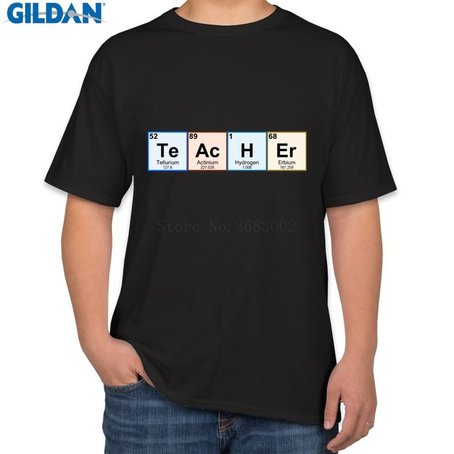 US $25 0 |Character Super T Shirt Man Euro Size Periodic Table Teacher T  Shirt Man Solid Color T Shirt Unique Awesome Famous-in T-Shirts from Men's