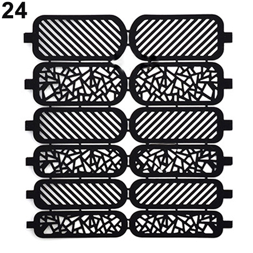 Fashion Nail Art Template Stickers Reusable Stamp Stencil Guide