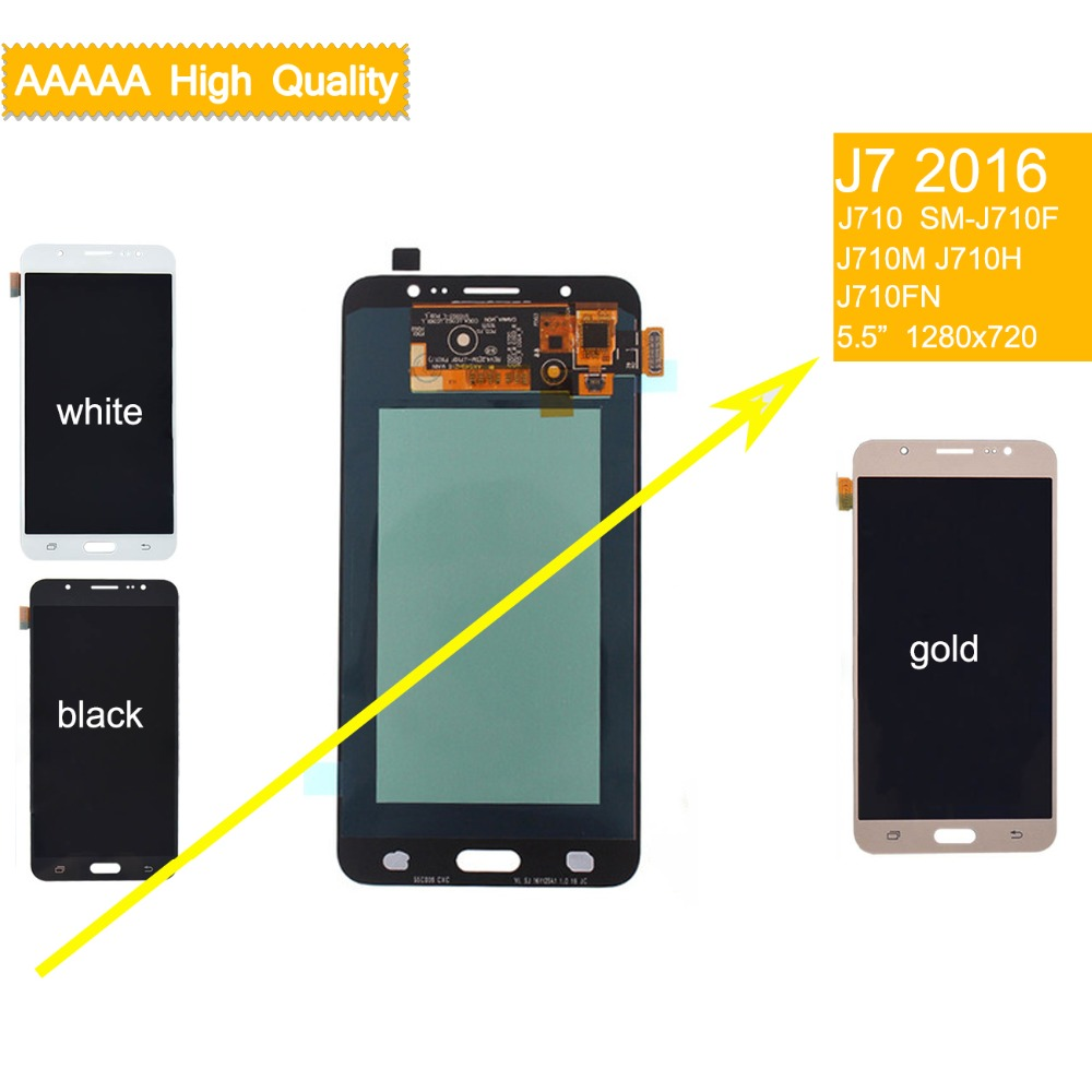 10Pcs/lot DHL AMOLED for SAMSUNG Galaxy J7 2016 LCD Display Touch Screen assembly J7 2016 J710M J710F J710H LCD Display complete10Pcs/lot DHL AMOLED for SAMSUNG Galaxy J7 2016 LCD Display Touch Screen assembly J7 2016 J710M J710F J710H LCD Display complete