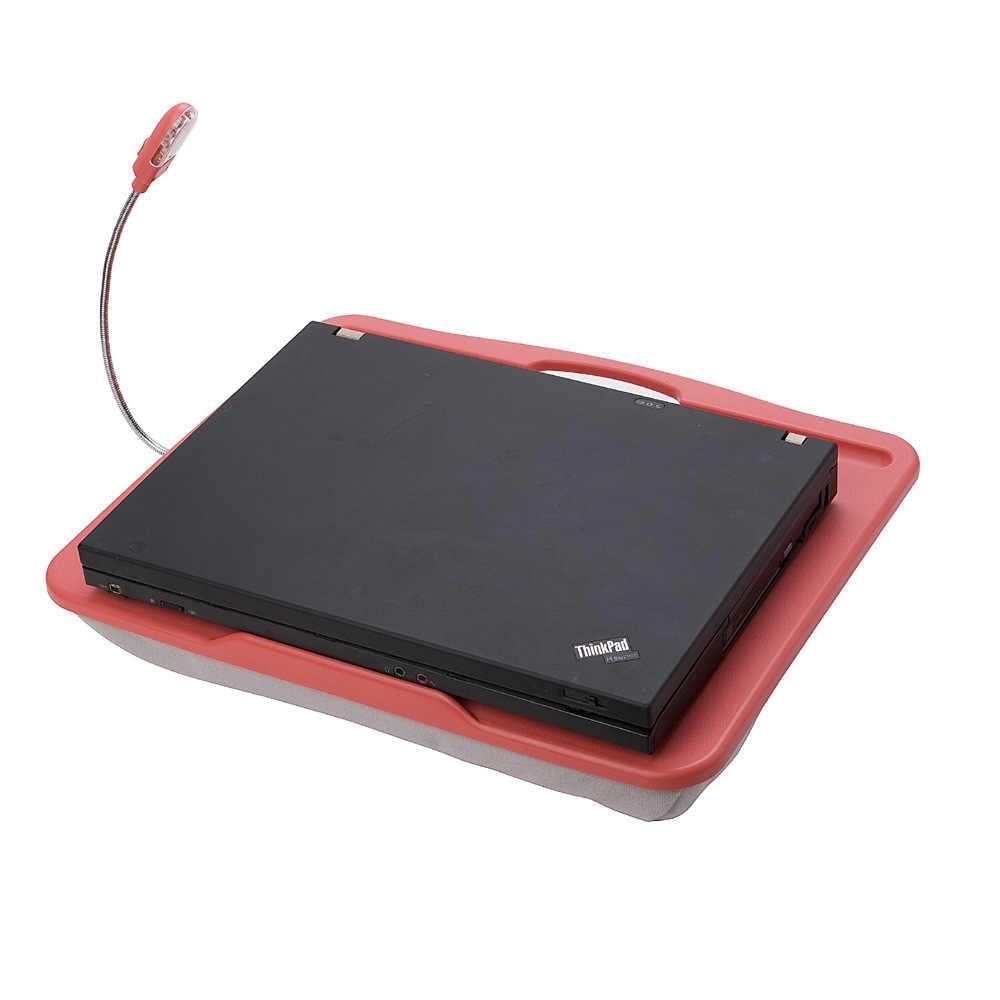 Брендовые мини Портативный Мягкие ABS ноутбук стол с светодиодный лампы творческий компьютерный стол, как Подушки детские для кровати/car/ диван/Открытый Отдых ручной