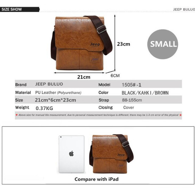 Men Tote Bags Set JEEP BULUO Famous Brand New Fashion Man Leather Messenger Bag Male Cross Body Shoulder Business Bags For Men 3