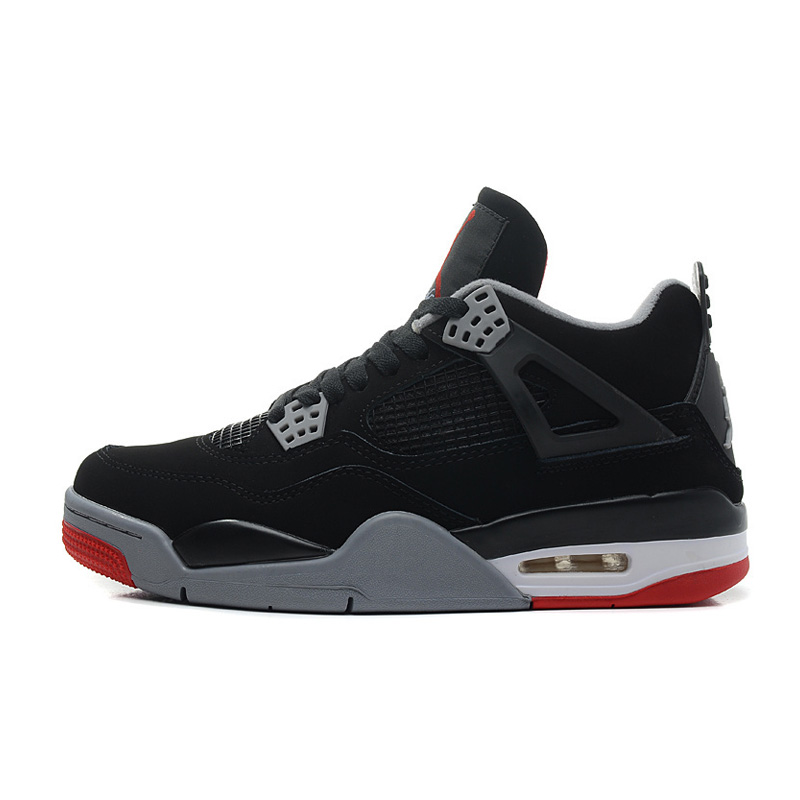 Jordan Air Retro 4 Men Basketball shoes bred Fire Red Oreo White Cement Black Cat Thunder Athletic Outdoor Sport Sneakers 41-46 2017brand sport mesh men running shoes athletic sneakers air breath increased within zapatillas deportivas trainers couple shoes