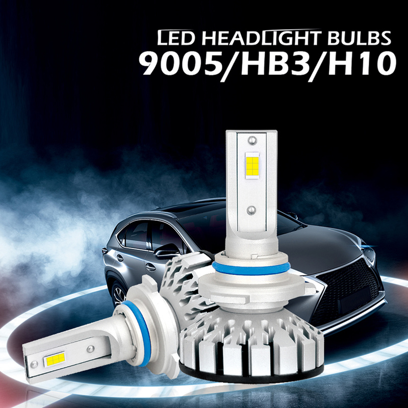 New 2x Car <font><b>LED</b></font> <font><b>Headlight</b></font> Kit 9005 9006 9012 H1 H3 <font><b>H4</b></font> H7 H11 <font><b>200W</b></font> 25000LM 6000K Bright <font><b>LED</b></font> <font><b>Headlight</b></font> <font><b>Bulbs</b></font> Kit Lamp <font><b>Bulb</b></font> image