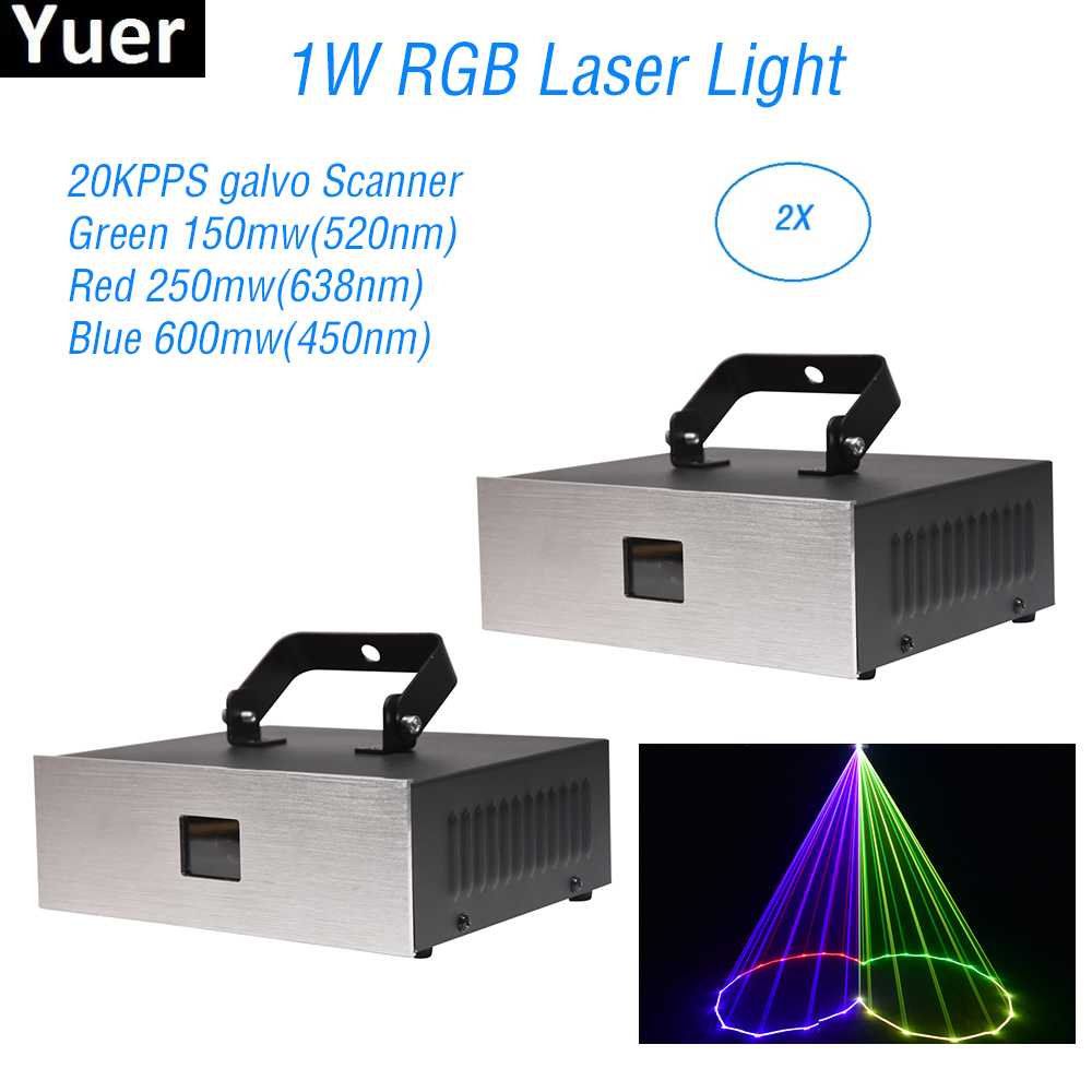 2 pcs lote 1 w rgb laser luz xmas bar disco dj clube ktv luz festa