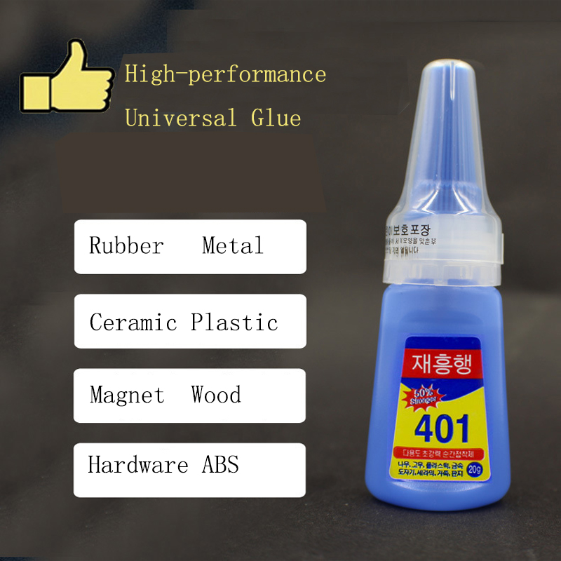 Multi Purpose 401 Super Strong Liquid Glue Wood Products Plastic Toys Phone Case Adhesive School Office Accessories 20G
